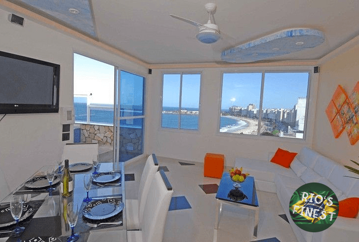 Penthouse Appartement mit frontaler Sicht auf das Meer in Co
